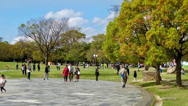 春日井名物グルメ王座決定戦開催もあってか、普段より混んでた日曜の落合公園 - 1