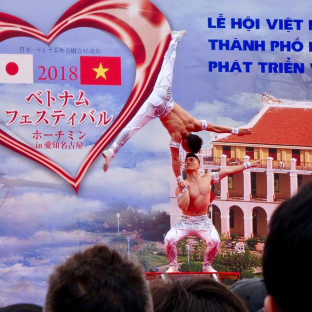 ベトナムフェスティバル ホーチミン in 愛知名古屋 2018 No - 43:筋骨隆々の2人組によるすごいパフォーマンス