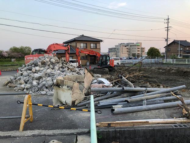 落合公園近くの中華料理屋の建物が解体 - 3