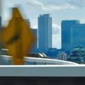 名古屋高速から見えた、名駅ビル群をバックにした名古屋城 - 2