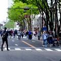 大勢の人で賑わう大津通の歩行者天国(2018年4月15日) - 2