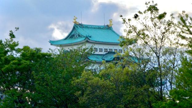 愛知県体育館2階から見た名古屋城天守閣 - 3