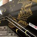 名古屋市営地下鉄「市役所」駅 - 2:階段の壁に描かれた金シャチ