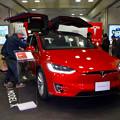名古屋駅コンコースで展示されてたTesla「Model S」 - 2