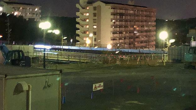 桃花台線の旧・車両基地進入高架撤去工事(2018年4月20日) - 3