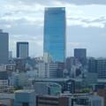 名古屋城天守閣から見た名駅ビル群 - 4:鏡のように反射してたルーセントタワー