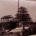 名古屋城の展示物 - 6:再建中の現天守閣の写真(1958年5月頃撮影)