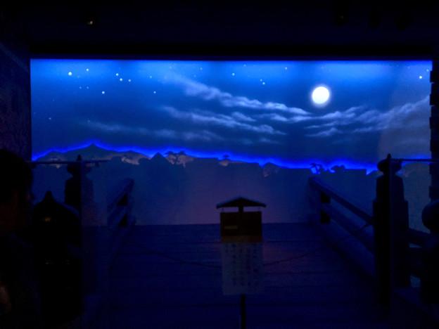 名古屋城(2018年4月)No - 24:江戸時代頃の城下町を再現(?)したスペース(真夜中を再現)