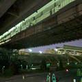 桃花台線の旧車両基地進入高架撤去工事(2018年4月26日) - 3:通行止めの準備進む