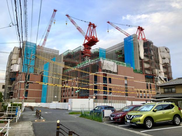 建設工事中の小牧市民病院の新しい建物(2018年4月26日) - 9
