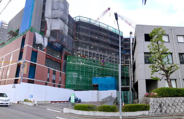 建設工事中の小牧市民病院の新しい建物(2018年4月26日) - 12:パノラマ