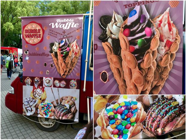 写真: 名古屋ブラジルフェスタで売ってたカラフルなアイス「バブルワッフル」 - 5