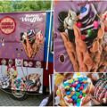 名古屋ブラジルフェスタで売ってたカラフルなアイス「バブルワッフル」 - 5