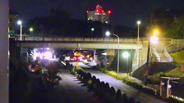 写真: 桃花台線の旧車両基地進入高架撤去工事(2018年5月15日) - 3