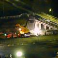 写真: 桃花台線の旧車両基地進入高架撤去工事(2018年5月15日) - 8:上から見下ろした工事現場