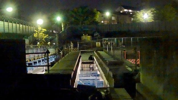桃花台線の旧車両基地進入高架撤去工事(2018年5月15日) - 12:撤去予定の高架
