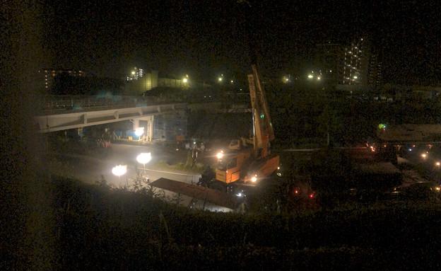 桃花台線の旧車両基地進入高架撤去工事(2018年5月15日) - 14:パノラマ