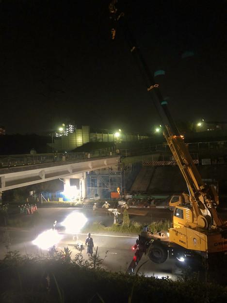 桃花台線の旧車両基地進入高架撤去工事(2018年5月15日) - 16