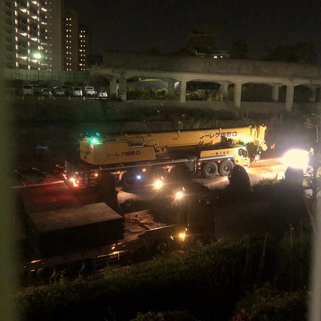 桃花台線の旧車両基地進入高架撤去工事(2018年5月15日) - 17