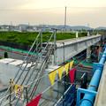 写真: 桃花台線の旧車両基地進入高架撤去工事(2018年5月16日) - 5:片側が撤去