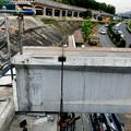 写真: 桃花台線の旧車両基地進入高架撤去工事(2018年5月16日) - 8:撤去された高架と残っている撤去予定の高架