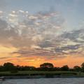 写真: 落合公園から見た夕焼け - 1