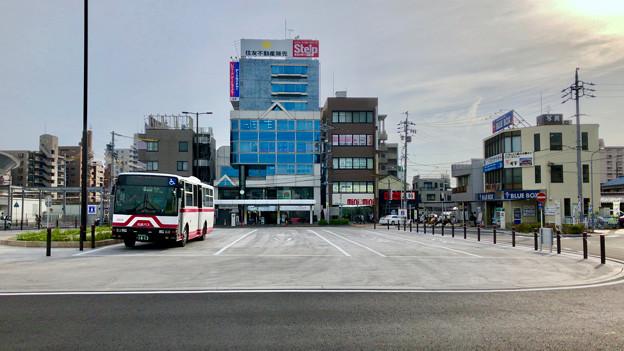 整備が完全に終わっていたJR春日井駅北口(2018年5月26日) - 10:ロータリー中央部はバス待機場に