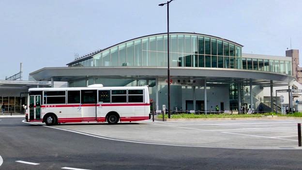 整備が完全に終わっていたJR春日井駅北口(2018年5月26日) - 11:ロータリー中央部はバス待機場に