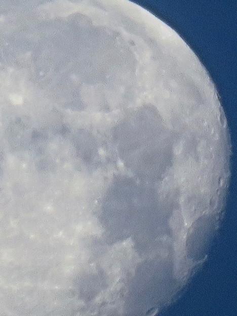 WX3000よりくっきり見えた、SX730 HSデジタル160倍で撮影した早朝の満月 - 7:クレーター