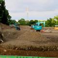 写真: 小牧山に整備中の「史跡センター」も遺構を破壊? - 4