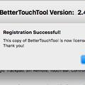 写真: BetterTouchToolのライセンス購入 - 3:ライセンス購入完了のアラート