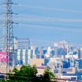 写真: 桃花台から見えた名港中央大橋(名港トリトン) - 1