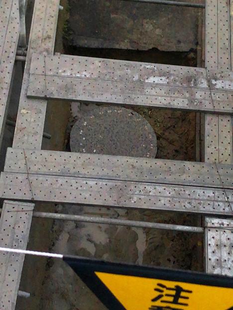 桃花台線の旧車両基地進入高架撤去工事(2018年6月15日):片側の橋脚が全て解体撤去 - 5