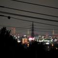 桃花台から見た夜の名港中央大橋(名港トリトン) - 2