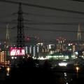 桃花台から見た夜の名港中央大橋(名港トリトン) - 4