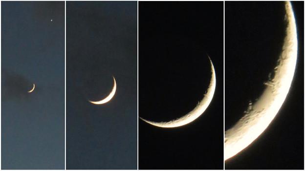 写真: SX730HSで撮影した三日月 - 10