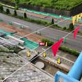 Photos: 桃花台線の旧車両基地進入高架撤去工事(2018年6月18日):反対側の撤去も開始 - 1