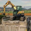 Photos: 桃花台線の旧車両基地進入高架撤去工事(2018年6月18日):反対側の撤去も開始 - 5