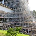名古屋城:石垣調査用の足場を設置?(2018年6月17日) - 2