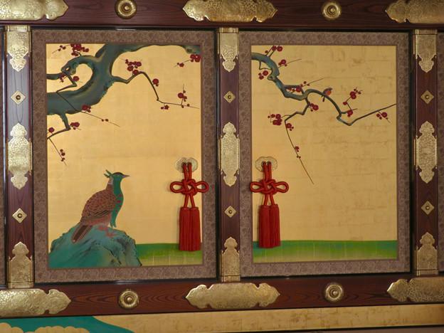 名古屋城本丸御殿 - 13:障子に描かれたキジ