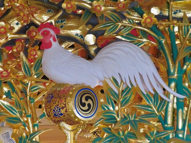 名古屋城本丸御殿 - 48:欄間のニワトリ