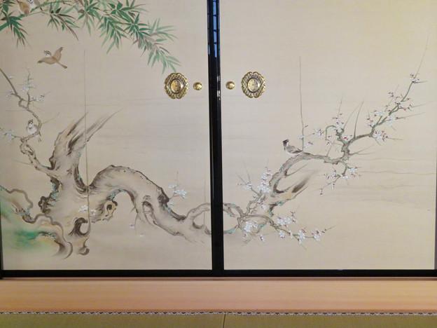 名古屋城本丸御殿 - 56:障子に描かれた梅