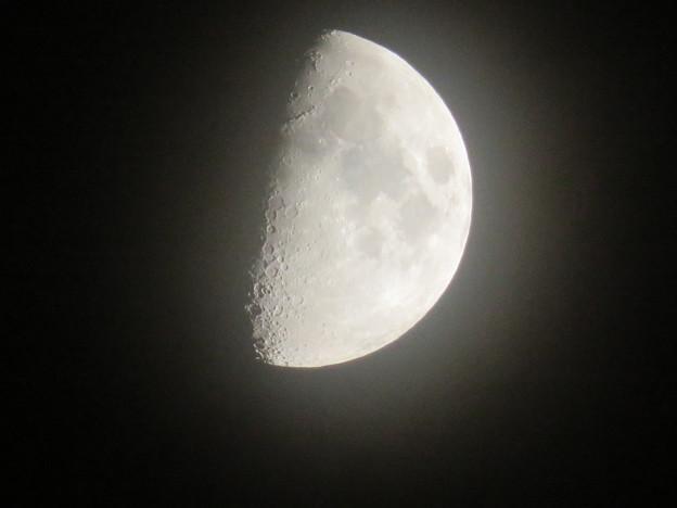 SX730 HSで撮影した半月(無修正) - 1
