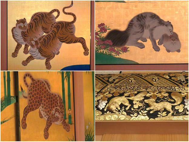名古屋城本丸御殿の装飾に使われてる動物