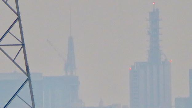 桃花台から見た名古屋テレビ塔とNTTドコモ名古屋ビル - 3