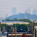 写真: 犬山丸の内緑地から見えた小牧山越しの名駅ビル群 - 3