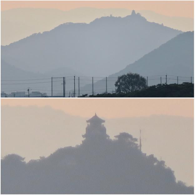 写真: 犬山丸の内緑地から見えた金華山と岐阜城 - 5