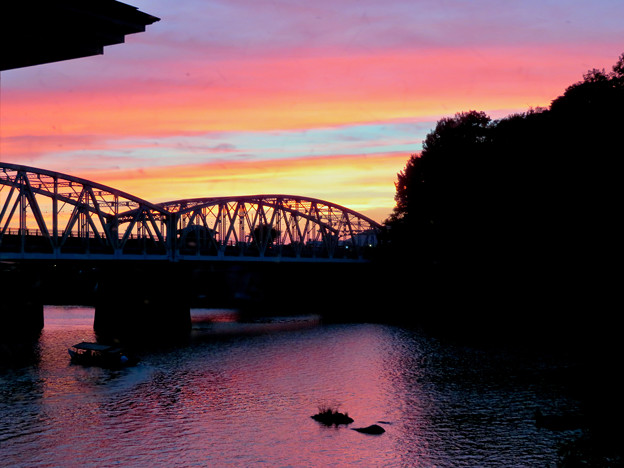 Photos: 犬山橋付近で見た綺麗な夕焼け - 1