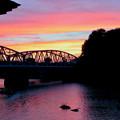 犬山橋付近で見た綺麗な夕焼け - 1