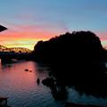犬山橋付近で見た綺麗な夕焼け - 2